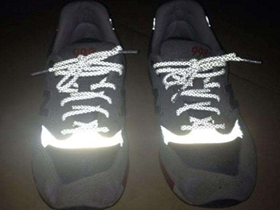 Reflective shoes